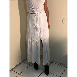 White Long Maxi Skirt